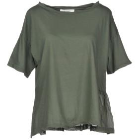 《送料無料》JUCCA レディース T シャツ ミリタリーグリーン XS 100% コットン シルク