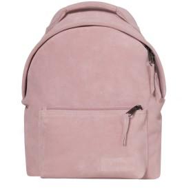 《送料無料》EASTPAK Unisex バックパック&ヒップバッグ ピンク 革 100% ORBIT SLEEK'R SUEDE