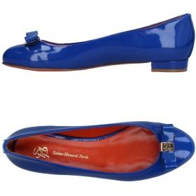 《9/20まで! 限定セール開催中》SAINT-HONOR PARIS SOULIERS レディース バレエシューズ ブルー 38 紡績繊維