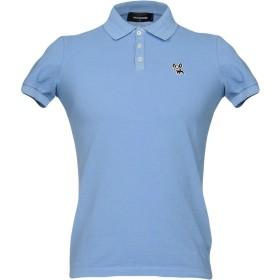 《セール開催中》DSQUARED2 メンズ ポロシャツ アジュールブルー M コットン 100%
