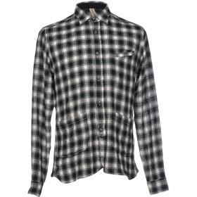 《セール開催中》DNL メンズ シャツ ブラック 38 55% ウール 45% コットン