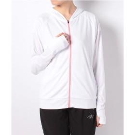 レディーススポーツウェア 長袖Tシャツ UVパーカージャケット レディース SPORTS AUTHORITY (スポーツオーソリティ) 5C-S18-306-001 ホワイト