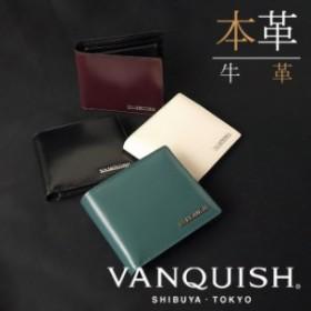 a35519e526f4 【送料無料】VANQUISH ヴァンキッシュ 二つ折り財布 サイフ ウォレット 財布 本革