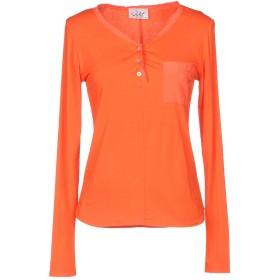 《期間限定セール開催中!》VIOLET ATOS LOMBARDINI レディース T シャツ オレンジ 40 90% レーヨン 10% ポリウレタン