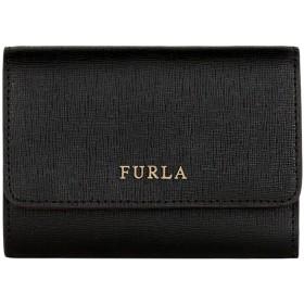 《期間限定セール開催中!》FURLA レディース 財布 ブラック 革 100% BABYLON S TRIFOLD