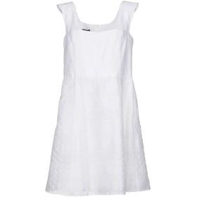 《期間限定 セール開催中》EMPORIO ARMANI レディース ミニワンピース&ドレス ホワイト 42 コットン 78% / ナイロン 15% / ポリエステル 7%