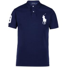 《セール開催中》POLO RALPH LAUREN メンズ ポロシャツ ダークブルー XS コットン 100% Custom Fit Big PP Polo