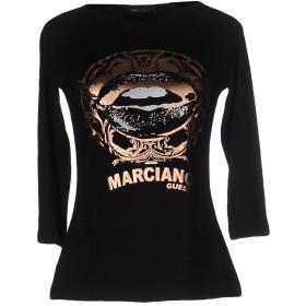 《期間限定セール開催中!》GUESS BY MARCIANO レディース T シャツ ブラック 2 レーヨン 95% / ポリウレタン 5%