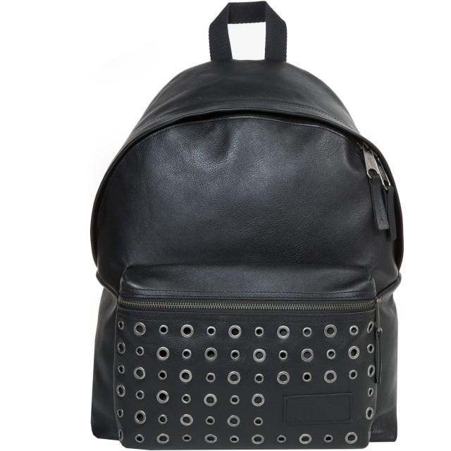 《セール開催中》EASTPAK Unisex バックパック&ヒップバッグ ブラック 革 PADDED PAK'R BLACK EYE-LET
