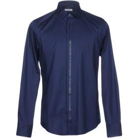 《期間限定セール開催中!》BIKKEMBERGS メンズ シャツ ダークブルー 38 96% コットン 4% ポリウレタン