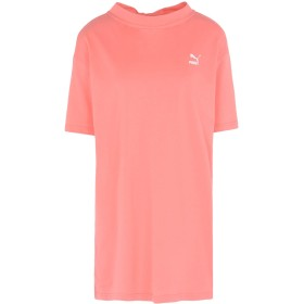《セール開催中》PUMA レディース T シャツ サーモンピンク XS コットン 100% BOW ELONGATED TEE