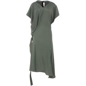 《セール開催中》MARNI レディース ロングワンピース&ドレス ミリタリーグリーン 40 69% アセテート 22% シルク 9% コットン