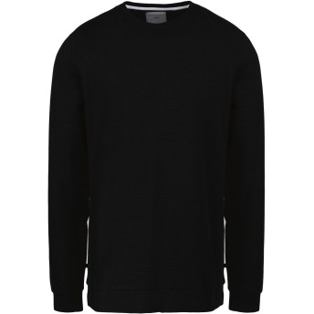《セール開催中》MINIMUM メンズ スウェットシャツ ブラック L コットン 100%