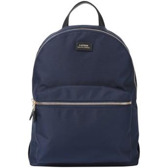《セール開催中》LAUREN RALPH LAUREN レディース バックパック&ヒップバッグ ダークブルー 100% ナイロン ポリウレタン Nylon Backpack