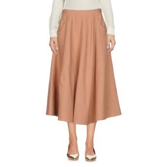 《セール開催中》FORTE_FORTE レディース 7分丈スカート キャメル 1 麻 66% / コットン 34%
