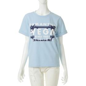 サマンサベガ VEGAロゴTシャツ ライトブルー