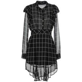 《送料無料》ANNARITA N レディース ミニワンピース&ドレス ブラック 44 ポリエステル 100% / ポリウレタン