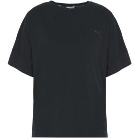 《9/20まで! 限定セール開催中》PUMA レディース T シャツ ブラック XS コットン 60% / レーヨン 40% Evo Tee