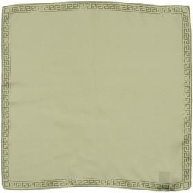 《期間限定 セール開催中》VERSACE メンズ スカーフ ミリタリーグリーン 100% シルク
