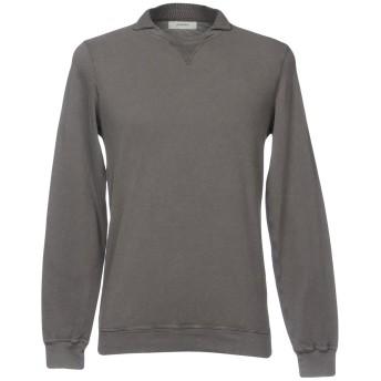 《セール開催中》ALPHA STUDIO メンズ スウェットシャツ グレー 46 コットン 100%