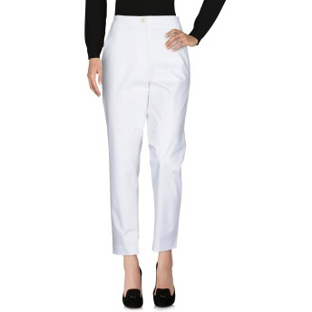 《セール開催中》JEREMY SCOTT レディース パンツ ホワイト 46 コットン 96% / 指定外繊維 4%