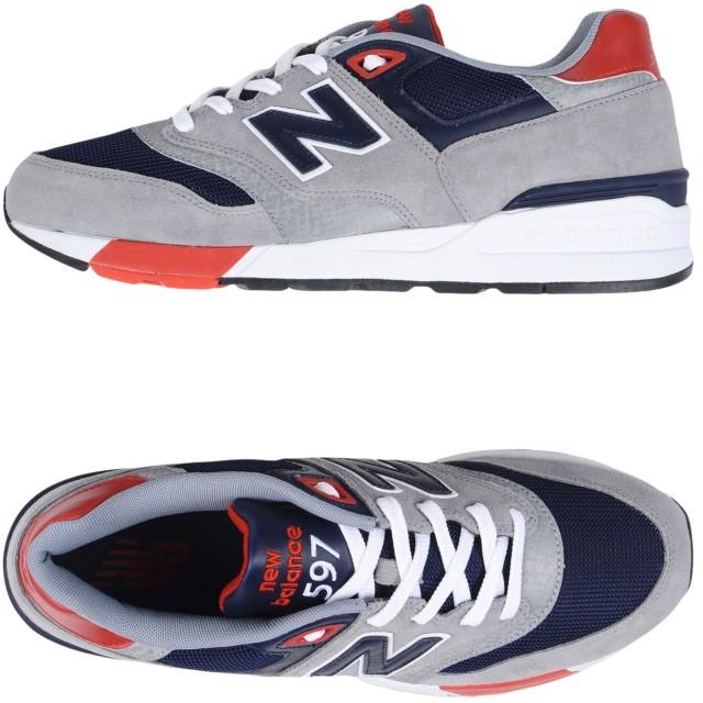 《期間限定セール開催中!》NEW BALANCE メンズ スニーカー&テニスシューズ(ローカット) グレー 7 革 / 紡績繊維 597 CLASSIC RUNNING