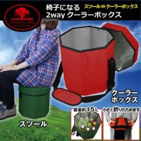椅子になる2wayクーラーボックス(アウトドア用品 スツール キャンプ ピクニック 運動会 レジャー 座面高さ30cm 耐荷重約80kg)