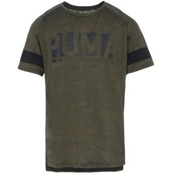 《セール開催中》PUMA メンズ T シャツ ミリタリーグリーン M ポリエステル 87% / コットン 13% RAGLAN ENERGY TEE