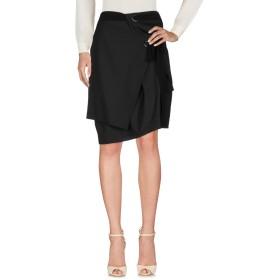 《セール開催中》DAMIR DOMA レディース ひざ丈スカート ブラック 36 ウール 100% / シルク
