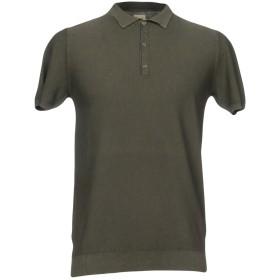 《期間限定 セール開催中》KAOS メンズ ポロシャツ ミリタリーグリーン S コットン 100%