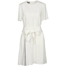 《期間限定セール開催中!》EMPORIO ARMANI レディース ミニワンピース&ドレス ホワイト 46 100% レーヨン ポリエステル