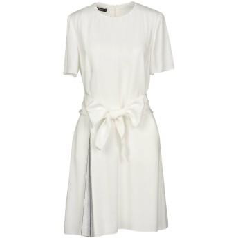 《セール開催中》EMPORIO ARMANI レディース ミニワンピース&ドレス ホワイト 46 100% レーヨン ポリエステル