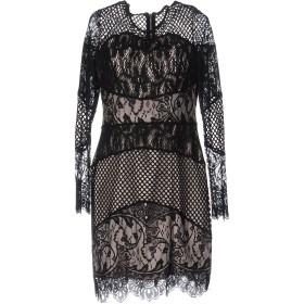 《セール開催中》FOREVER UNIQUE レディース ミニワンピース&ドレス ブラック 12 ポリエステル 95% / コットン 5%