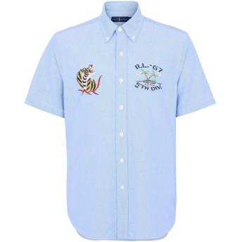 《期間限定 セール開催中》POLO RALPH LAUREN メンズ シャツ スカイブルー M コットン 100% Core Fit Oxford Shirt