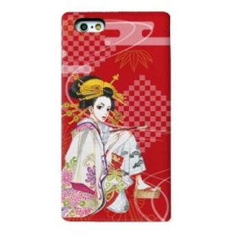 さくらん Gizmobies/BOOK RED SAKURAN アイフォン6 ケース シール【iPhone6/6s専用手帳型ケース】