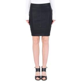 《期間限定セール開催中!》MINIMUM レディース ひざ丈スカート ブラック 34 ポリウレタン 100% TILLA 0360 SHORT SKIRT BASIC