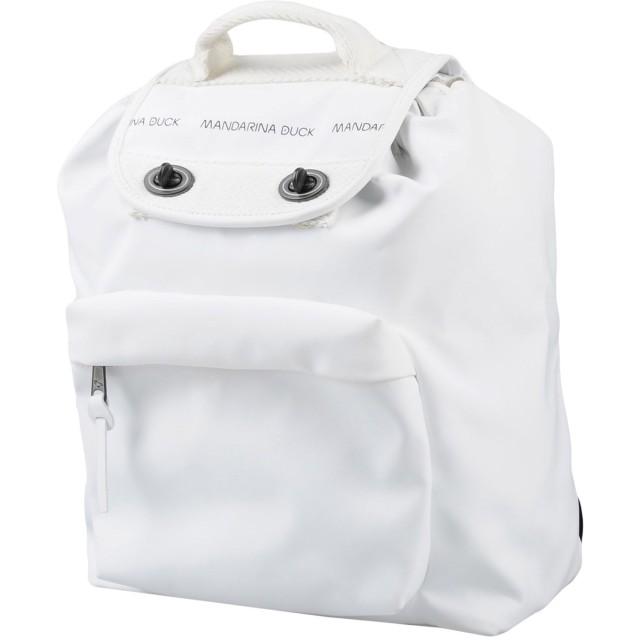 《セール開催中》MANDARINA DUCK レディース バックパック&ヒップバッグ ホワイト 紡績繊維