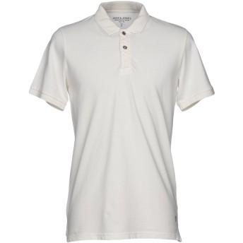 《期間限定セール開催中!》JACK & JONES PREMIUM メンズ ポロシャツ ホワイト L 100% コットン