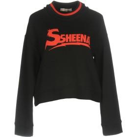《期間限定セール開催中!》SSHEENA レディース スウェットシャツ ブラック M コットン 100%