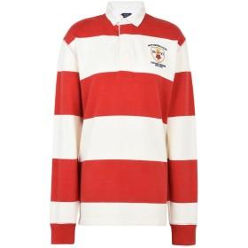 《期間限定セール開催中!》POLO RALPH LAUREN レディース ポロシャツ レッド S コットン 100% Racing Rugby Shirt