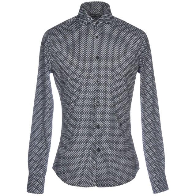 《期間限定セール開催中!》MARCIANO メンズ シャツ ダークブルー 38 コットン 98% / ポリウレタン 2%