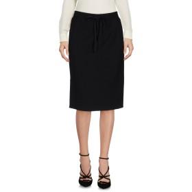 《送料無料》FABRIZIO LENZI レディース ひざ丈スカート ブラック 40 ポリエステル 65% / レーヨン 32% / ポリウレタン 3%