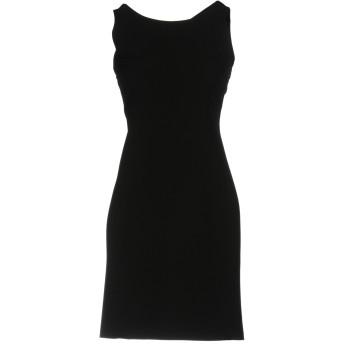《セール開催中》HOPE COLLECTION レディース ミニワンピース&ドレス ブラック 44 ナイロン 88% / ポリウレタン 12%