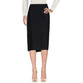 《セール開催中》LES COPAINS レディース 7分丈スカート ブラック 50 コットン 95% / ポリウレタン 5%