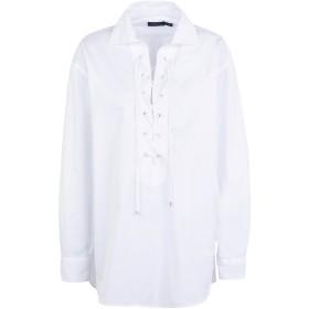 《期間限定セール開催中!》POLO RALPH LAUREN レディース ブラウス ホワイト XS コットン 100% Broadcloth Lace-Up Shirt