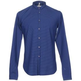 《期間限定 セール開催中》MICHAEL COAL メンズ シャツ ダークブルー 42 コットン 100%