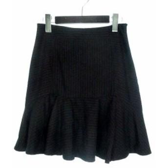 【中古】パリゴ PARIGOT スカート M 黒 ブラック ポリエステル ピンストライプ柄 マーメイド レディース