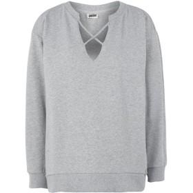 《セール開催中》DIMENSIONE DANZA レディース スウェットシャツ グレー S コットン 95% / ポリウレタン 5% SWEATSHIRT COLORS CROSS