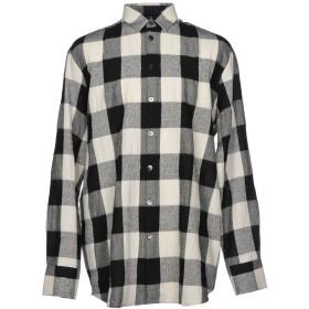 《セール開催中》TUDES STUDIO メンズ シャツ ブラック 48 ウール 50% / コットン 41% / 麻 9%