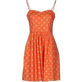 《セール開催中》JEREMY SCOTT レディース ミニワンピース&ドレス オレンジ 40 コットン 100%